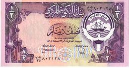 Kuwait P.12d  1/2 Dinar 1991  Unc - Kuwait