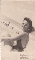 MAR DEL PLATA PHOTO ORIGINAL. FEMME, WOMAN, MUJER SONRIENDO. MAILLOT/SWIMSUIT PLAGE BEACH POSTAL. -TBE-BLEUP - Anonymous Persons