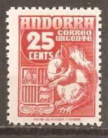 Andorra Española - Edifil 58 - Yvert 52 (MNH/**) - Nuevos