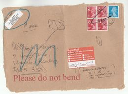 2017 GB COVER (front) RTS ROYAL MAIL RETURNED GONE AWAY POST LABEL  From Potters Bar To Reading, Stamps - 1952-.... (Elizabeth II)