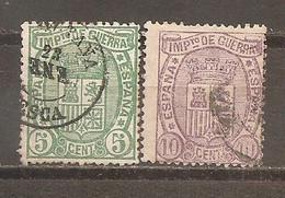 España/Spain-(usado) - Edifil  154-55 - Yvert  Impuesto De Guerra-3-4 (o) - Impuestos De Guerra