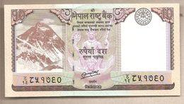 Nepal - Banconota Non Circolata Da 10 Rupie  P-70 - 2012 - Nepal