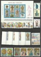 1987 Vaticano Vatican 6 SERIE E FOGLIETTO OLYMPHILEX Usati: S.Agostino, Lettonia, Lituania, Olymphilex, Museo Filatel... - Used Stamps