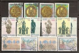 1987 Vaticano Vatican 6 Serie Usate: S.Agostino (x2), Lituania (x2), Museo Filatelico (x2) - Vatican