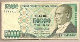 Turchia - Banconota Circolata Da 50.000 Lire P-203a - 1989 - Turkey