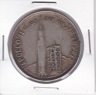 MONEDA DE PLATA DE YEMEN DE 2 RIALS DEL AÑO 1969 DEL APOLLO 11  (COIN) SILVER-ARGENT - Yemen
