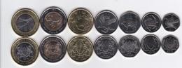 Botswana - 5 10 25 50 Thebe + 1 2 5 Pula Set 7 Coins 2013 UNC Lemberg-Zp - Botswana