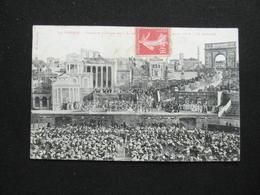 CPA LA VESTALE LE BALLET THEATRE DES ARENES  BEZIERS  (34 HERAULT) CACHET LOUPIAN 1907 - Beziers