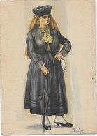 PORTUGAL- Costumes Traje Típico, Mulher De AVINTES. (Assinado Pintor Alberto De Sousa). - Costumes