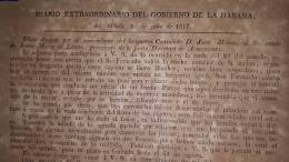 BP307 CUBA SPAIN ESPAÑA 1817. PERIODICO DIARIO DEL GOBIERNO DE LA HABANA. HOJA 33x18 Cm. CAPTURA DE BARCO CORSARIO NEW O - [1] Until 1980