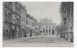 MONTBELIARD EN 1910 - PLACE ST MARTIN - LA CAISSE D' EPARGNE - CPA VOYAGEE - Montbéliard