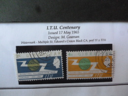 GIBRALTAR SG 0180-181   FINE USED Post Office Cancellation - Gibraltar