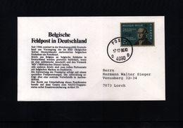 Belgien 1986 Belgische Feldpost In Deutschland - Lettres & Documents