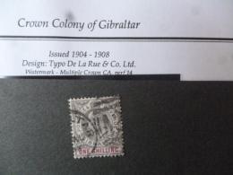 GIBRALTAR SG 0061a  FINE USED - Gibraltar