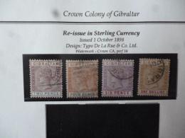 GIBRALTAR SG 0041-44  FINE USED - Gibraltar