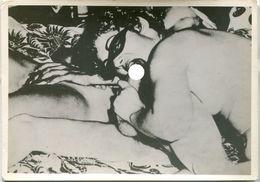 Pin-up Nude Woman Femme Nu Erotique Masque Homme Bizarre Sexe Vintage 50s  Fellation Bandeau - Fine Nude Art (1941-1960)