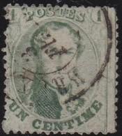 Belgie  .    OBP   .      13        .     O         .     Gebruikt    .  /   .    Oblitéré - 1863-1864 Médaillons (13/16)