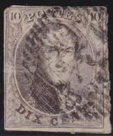 Belgie  .    OBP   .     6          .     O         .     Gebruikt    .  /   .    Oblitéré - 1851-1857 Médaillons (6/8)