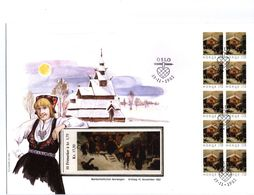 Norway 1982 Christmas Booklet FDC - Briefe U. Dokumente