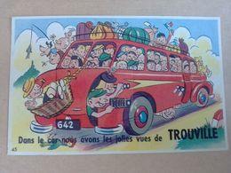 14  TROUVILLE  CARTE A SYSTEME DANS LE CAR NOUS AVONS LES JOLIES VUES  DE TROUVILLE - Trouville