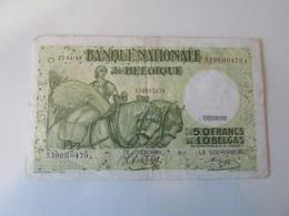 50 Frank Of 10 Belga, 1943, Belgie - [ 3] Occupazioni Tedesche Del Belgio