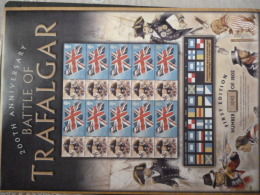 GREAT BRITAIN [GB] ATTLE OF TRAGALGAR 200 ANNIVERSRY LIMITED EDITION SHEET 243/1805 With LABELS - Hojas & Múltiples