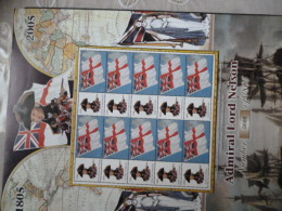 GREAT BRITAIN [GB] ATTLE OF TRAGALGAR 200 ANNIVERSRY LIMITED EDITION SHEET 688/1805 With LABELS - Ganze Bögen & Platten
