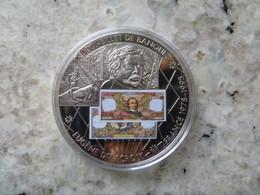 Piece De Monnaie Commémorative: En Mémoire D' Une Monnaie Eugène Delacroix Billet De 100 Francs Français 2007 - Unclassified