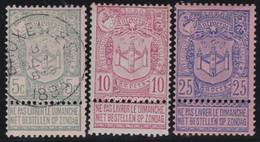Belgie  .    OBP   .    68/70   (  68:  O )    .     *       .   Ongebruikt    .  /   .    Neuf  Avec   Charniere - 1893-1907 Coat Of Arms