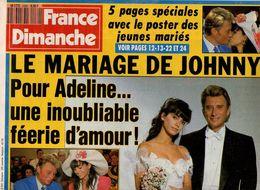 France Dimanche N°2289 Le Mariage De Johnny Hallyday Et Adeline - Mathilda May - Luis Mariano De 1990 - People