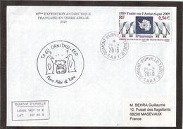12 - TAAF- PO551 Du 25.2.2010 TERRE ADELIE - TA60 ORNITHO-ECO. - Lettres & Documents
