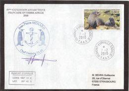 12 - TAAF- PO567 Du 7.2.2010 TERRE ADELIE - Cachet Et Signature Chef Centrale TA60-Cachets Des EPF. - Terres Australes Et Antarctiques Françaises (TAAF)