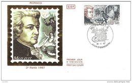 Opera Musique Compositeur DON GIAVANNI - W.A. MOZART N° 774 - 16.11.1987 Monaco FDC - FDC
