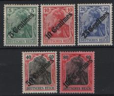 Germania Uff.Levante 1908 Unif. 52/56 MH/* VF/F - Unused Stamps