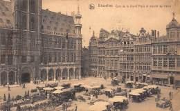 BRUXELLES - Coin De La Grand'Place Et Marché Aux Fleurs - Markten