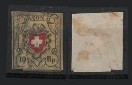 SVIZZERA - 1850 RAYON II - 10rp - 1843-1852 Timbres Cantonaux Et  Fédéraux