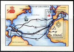 AS4724 Grenada 1992 Columbus Nautical Map MNH - Grenada (1974-...)