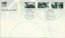 Australia 1992 Barcelona Olympic Games FDC - Ersttagsbelege (FDC)