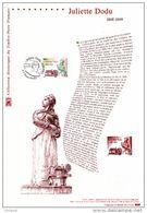 """"""" JULIETTE DODU """"  Sur Document Philatélique Officiel De 2009. N° YT 4401. Parfait état. DPO - Documentos Del Correo"""