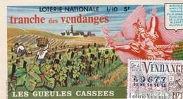 BILLET DE LOTERIE..LES GUEULES CASSEES..TRANCHE DES VENDANGES  1973. - Biglietti Della Lotteria