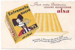 Buvard Alsa Entremets Sucré - Buvards, Protège-cahiers Illustrés