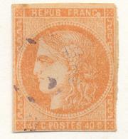 N°48 VARIETE BOULE BLANCHE. - 1870 Bordeaux Printing