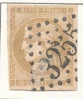 N°43 NUANCE ET OBLITERATION. - 1870 Bordeaux Printing