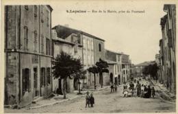 11 LAPALME - Rue De La Mairie, Prise Du Pourtanel - Très Animée - Autres Communes