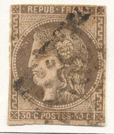 N°47 NUANCE ET OBLITERATION. - 1870 Bordeaux Printing