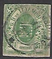 Luxembourg   1859   Sc#11   37 1/2c   Used  2016 Scott Value $200 - 1859-1880 Armarios