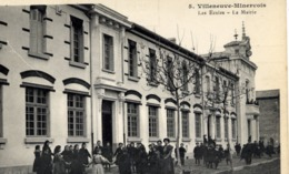 11 VILLENEUVE-MINERVOIS - Les Ecoles - La Mairie - SUPER Animée, Ronde D'enfants - Autres Communes