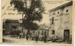 11 VILLENEUVE-LA-COMPTAL - Place Mestrelem - Très Animée - Autres Communes