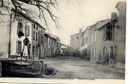 11 VILLENEUVE-LES-MONTREAL (133 Hab.) - Rue Principale - Autres Communes