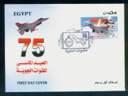 EGYPT / 2007 / AIRPLANE / 75th Anniversary Of Air Forces / FDC - Egypt